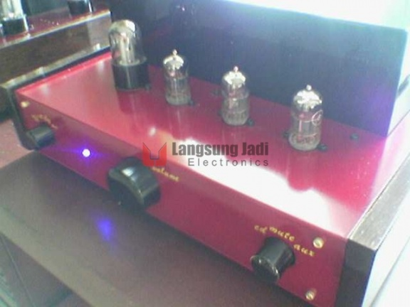 6h1n Triple-Parallel Line PreAmp (Red Maroon -MGM) -3