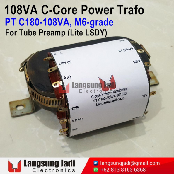 PT C180-108VA C-core Trafo for Lite LSDY -1