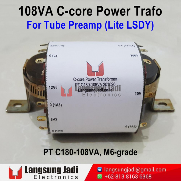 PT C180-108VA C-core Trafo for Lite LSDY -2
